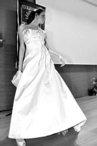 abito da sposa in raso douchesse di seta